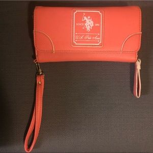 US Polo Pink clutch Good condition Few flaws shown